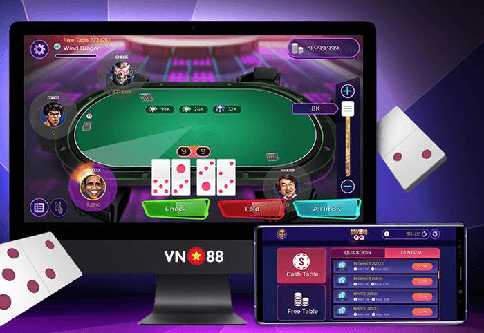 Hướng dẫn chơi game Domino QQ VN88