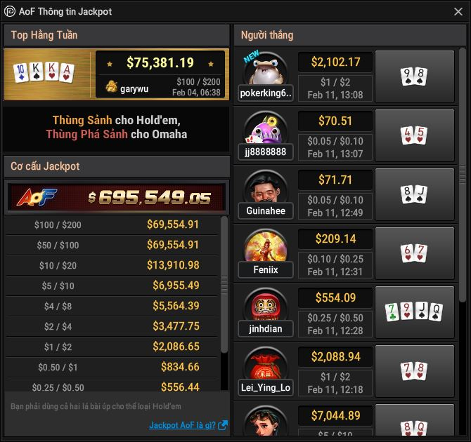 All-in or Fold Jackpot (AoF Jackpot)